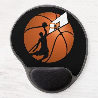 Slam Dunk Basketball Player w/Hoop on Ball Gel Mouse Mat