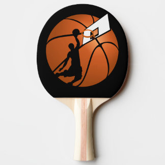 Slam Dunk Basketball Player w/Hoop on Ball Ping Pong Paddle
