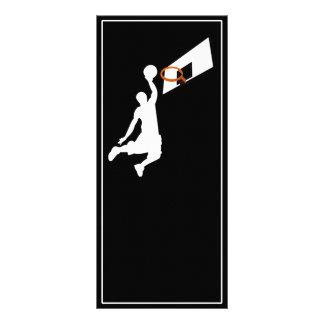 Slam Dunk Basketball Player - White Silhouette Custom Rack Cards