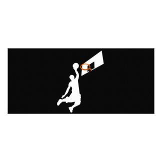Slam Dunk Basketball Player - White Silhouette Custom Rack Card