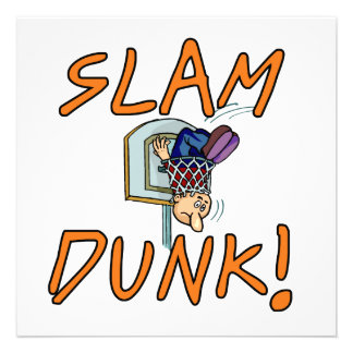 Slam Dunk Basketball Tshirts and Gifts Custom Announcements