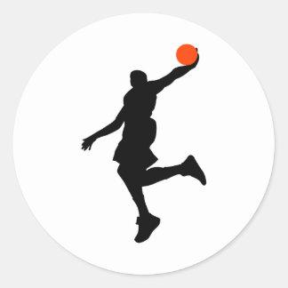 Slam Dunk Round Sticker