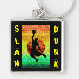 SLAM DUNK Silver-Colored SQUARE KEY RING