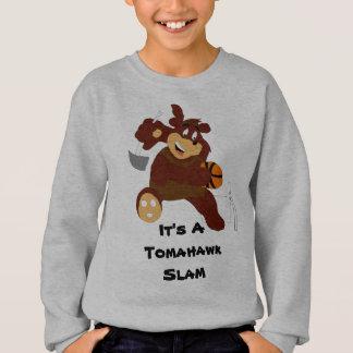 Slam Dunking Cartoon Bear Sweatshirt