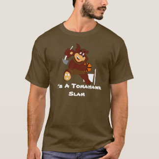 Slam Dunking Cartoon Bear T-Shirt