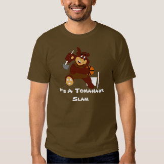 Slam Dunking Cartoon Bear T-shirts