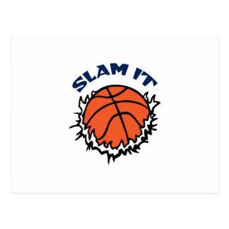 SLAM IT BASKETBALL POSTCARD
