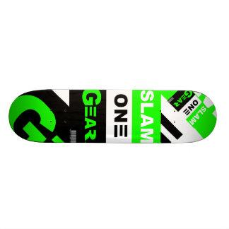 SLAM ONE GEAR Green Board 19.7 Cm Skateboard Deck