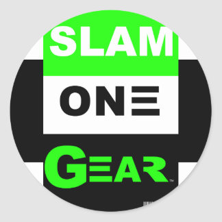 SLAM ONE GEAR Green Sticker