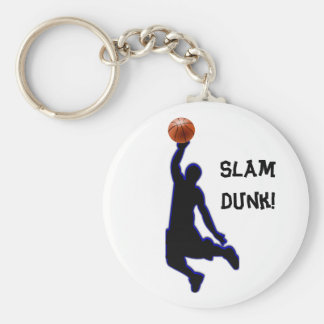 slamdunk basic round button key ring