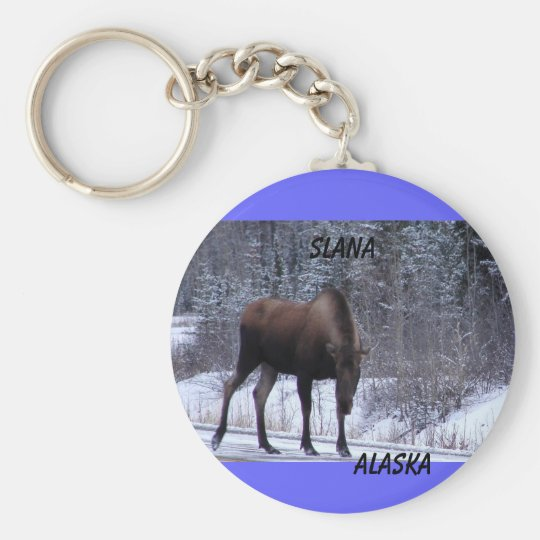 Slana Moose Basic Round Button Key Ring