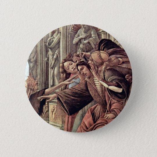 Slander  By Botticelli Sandro (Best Quality) 6 Cm Round Badge
