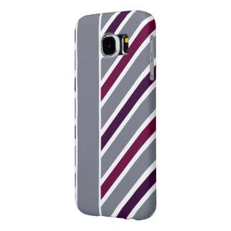Slanted Stripes Samsung phone cases