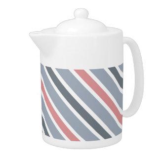 Slanted Stripes teapots