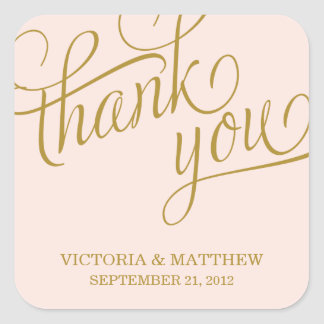 SLANTED | WEDDING THANK YOU LABEL