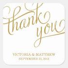 SLANTED | WEDDING THANK YOU LABEL