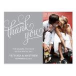 SLANTED | WEDDING THANK YOU POST CARD