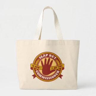 Slap Bet Commissioner Canvas Bags