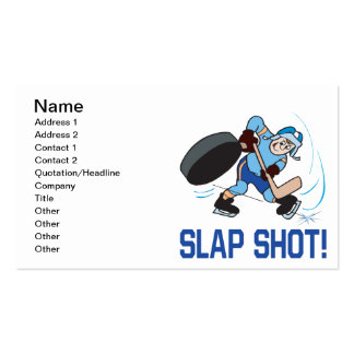 Slap Shot Business Cards