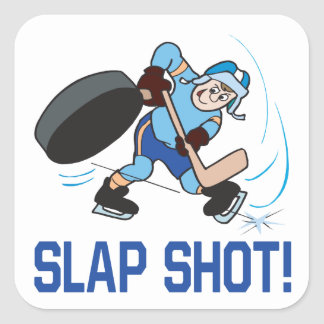 Slap Shot Square Sticker