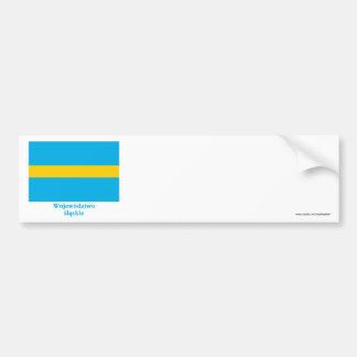 Śląskie - Silesia flag with name Bumper Sticker