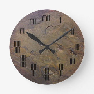 Slate-ancient Egyptian numbers Round Clock