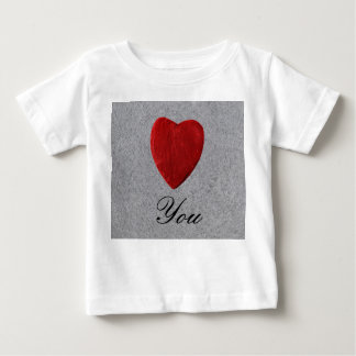 Slate background Love you Baby T-Shirt
