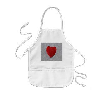 Slate background with heart kids apron