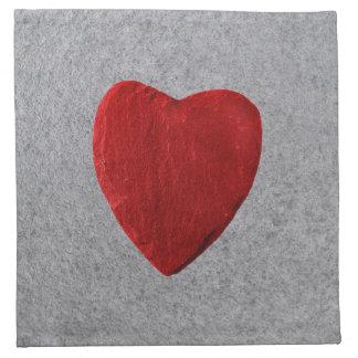 Slate background with heart napkin