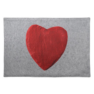 Slate background with heart place mats