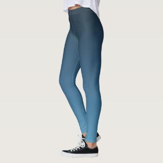 Slate Blue Gradient Fade Leggings