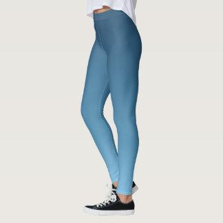 Slate Blue Ombre Gradient Fade Leggings