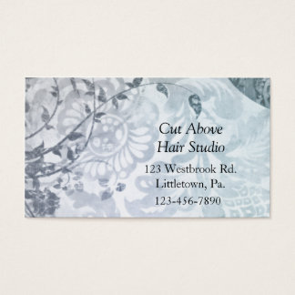 Slate Blue Paisley Business Cards