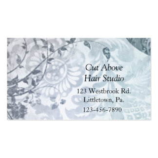 Slate Blue Paisley Business Cards