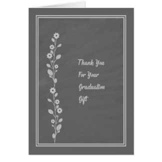 Slate Design Graduation Gift of Cash Thank You Card