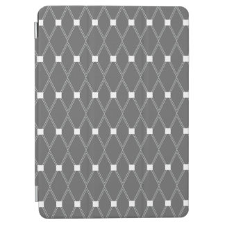Slate Gray Argyle Lattice iPad Air Cover