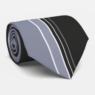 Slate Gray & Black Pinstriped Tie