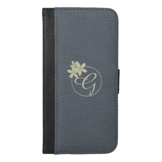 Slate Gray Faux Leather iPhone 6/6s Plus Wallet