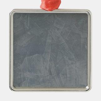 Slate Grey Venetian Plaster Christmas Ornament