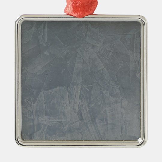 Slate Grey Venetian Plaster Silver-Colored Square Decoration
