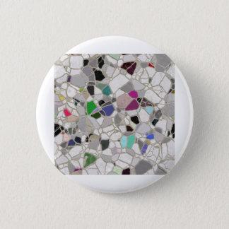 slate mosaic path 6 cm round badge