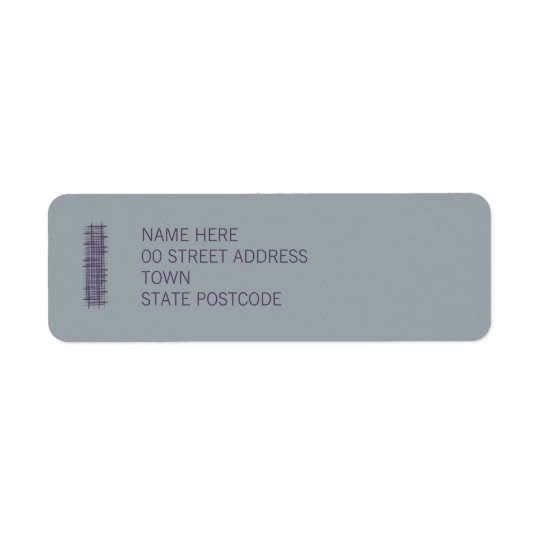 Slate Return Address Label