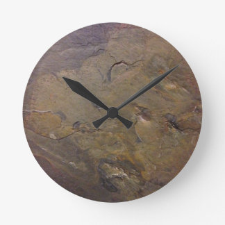 Slate Round Clock