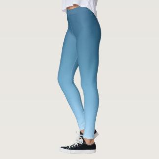 Slate to Sky Blue Gradient Fade Leggings