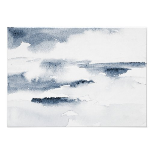 Slate Watercolor Abstract Poster