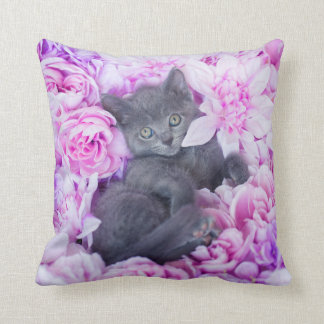 Slater Kitten Purple Floral Cushion