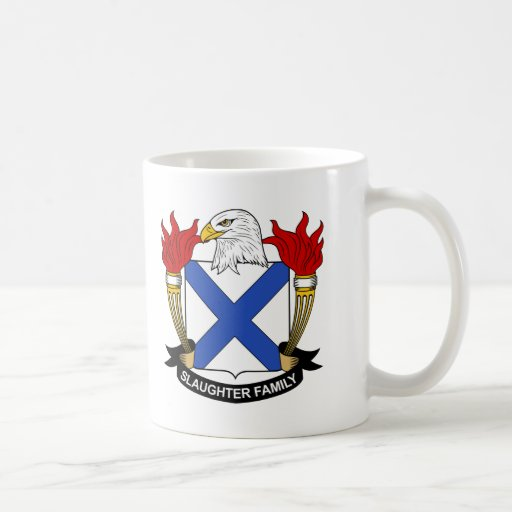 Slaughter Family Crest Coffee Mugs