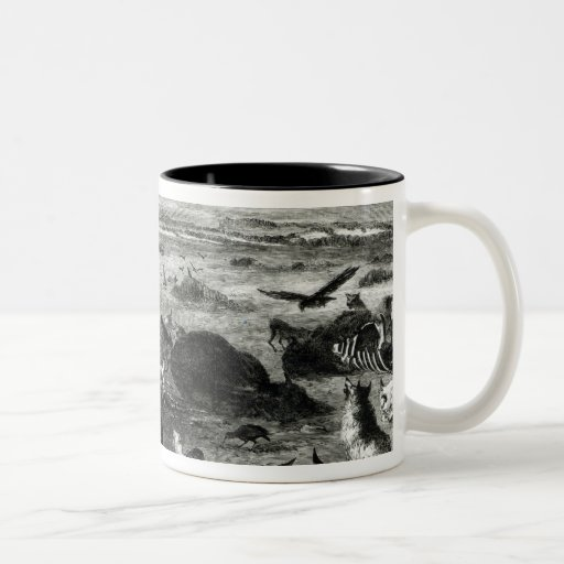 Slaughter of Buffaloes on the Plains Mugs
