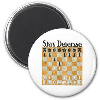 Slav Defense 6 Cm Round Magnet