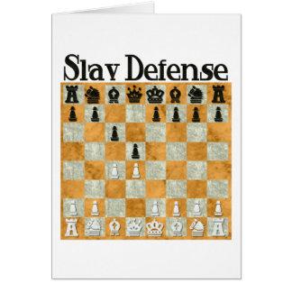 Slav Defense Greeting Card